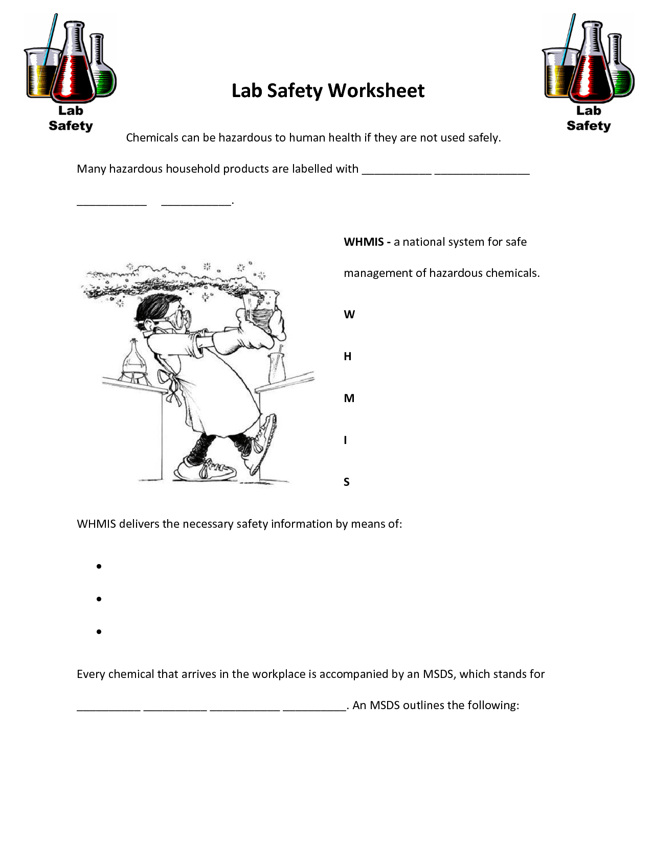Science Safety Worksheets Pictures To Pin