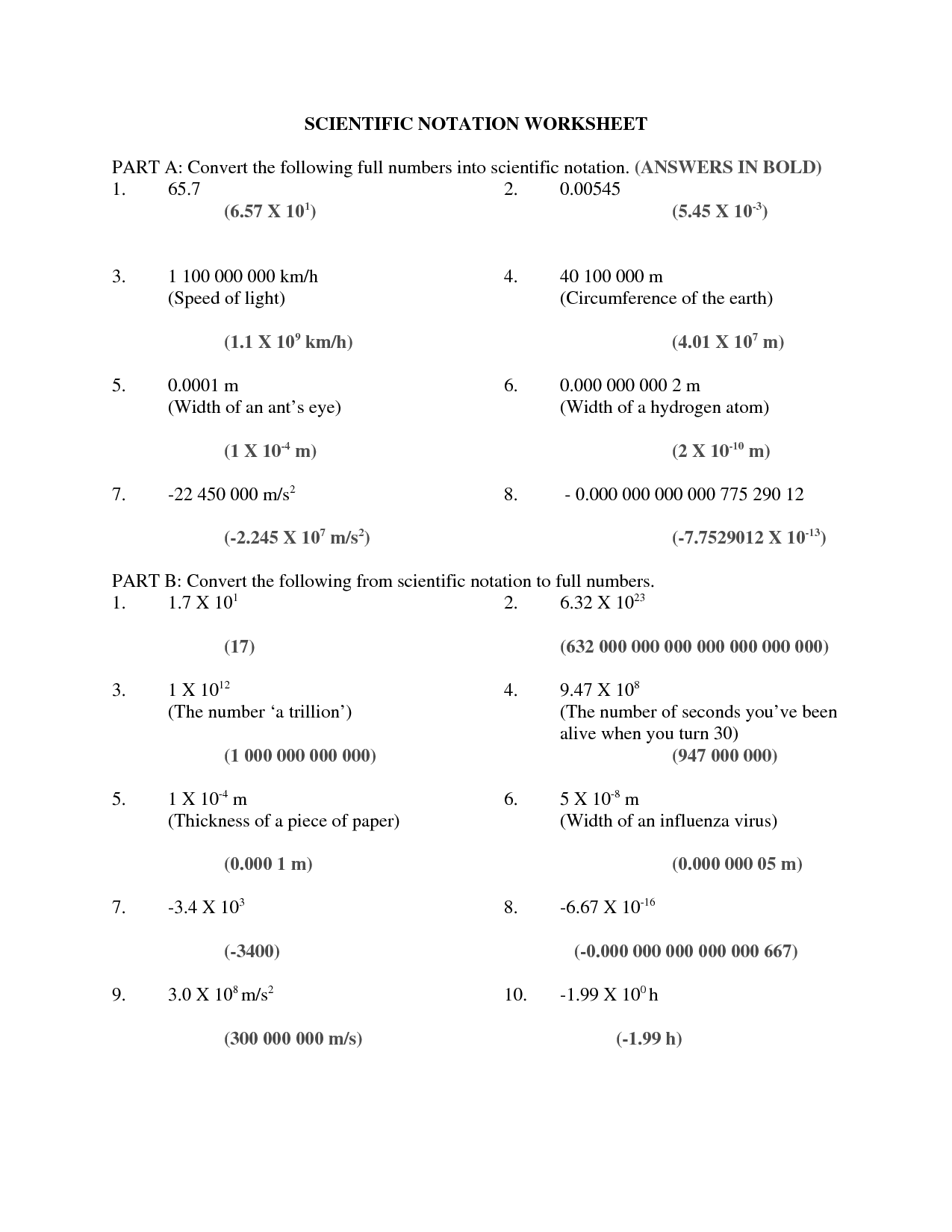 7 Best Images Of Speed Of Light Worksheet