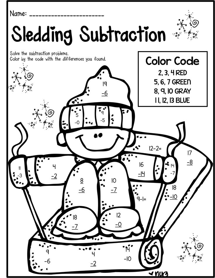 14 Best Images of Winter Worksheets For First Grade