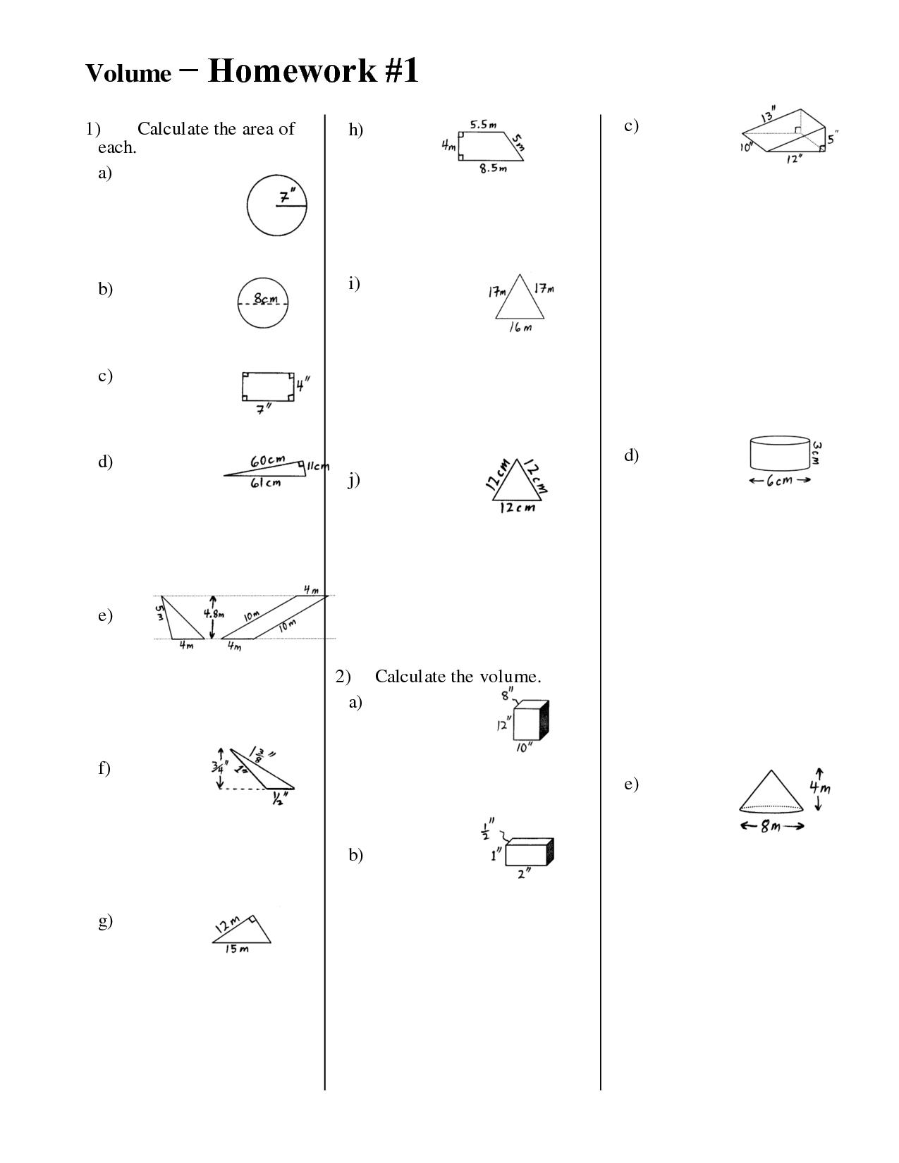 8 Best Images Of Math Homework Worksheets