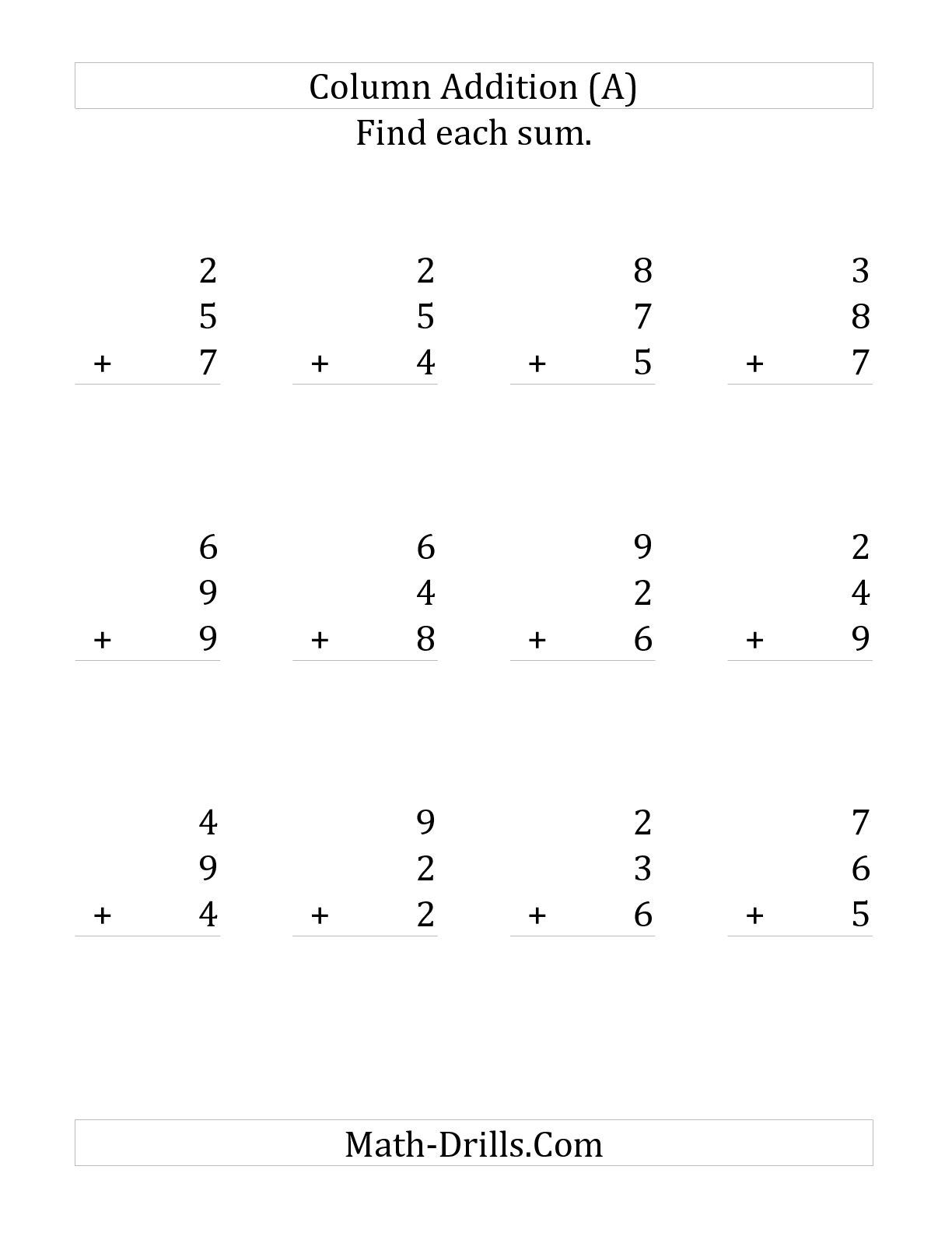 13 Best Images Of Adding Three Numbers Worksheets
