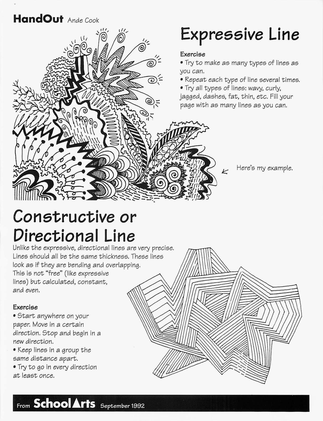 14 Best Images Of Elements Of Art Worksheets