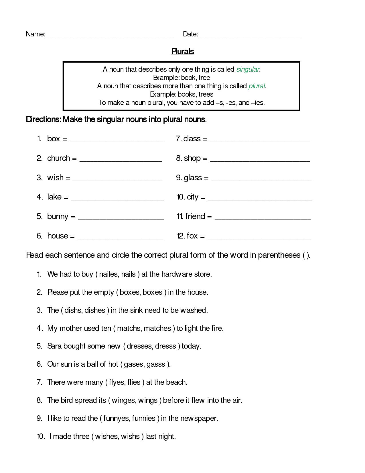 Brazil 3rd Grade Worksheet