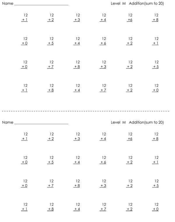 16 Best Images of 1st Grade Math Fluency Worksheets