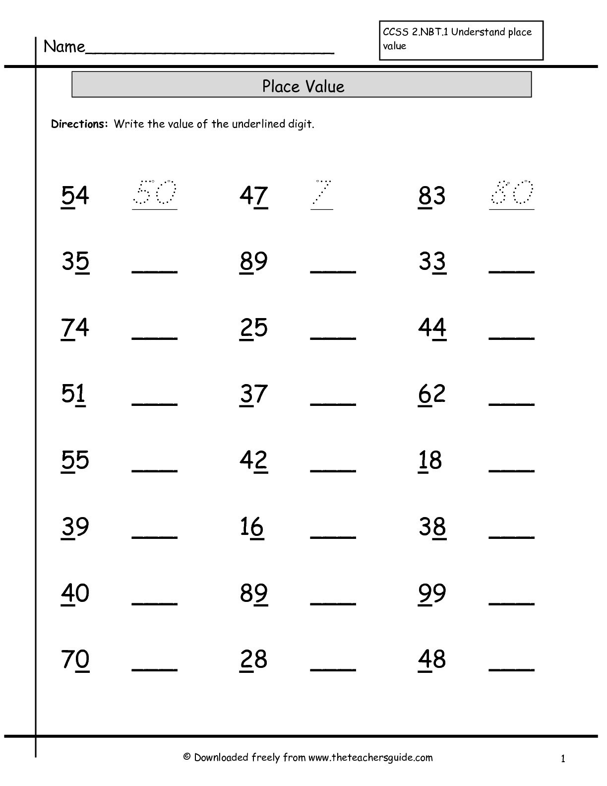 15 Best Images Of Base Ten Blocks Worksheets