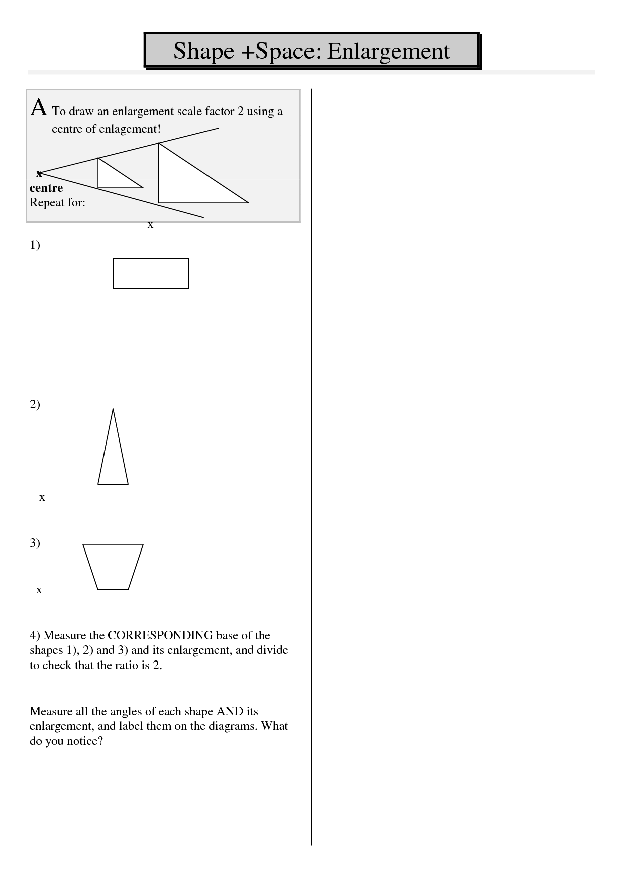 8 Best Images Of Scale Factor Worksheets