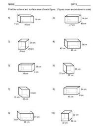 10 Best Images of Surface Area And Volume Worksheets ...