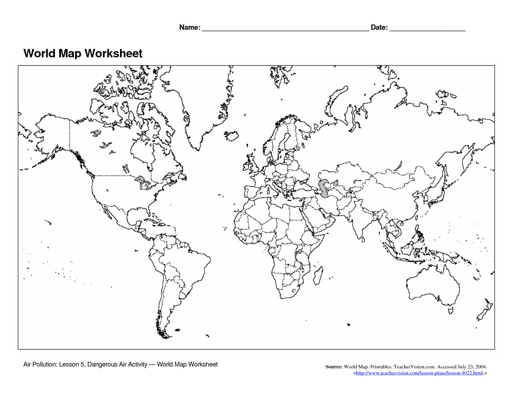 14 Best Images Of Me On The Map Worksheets