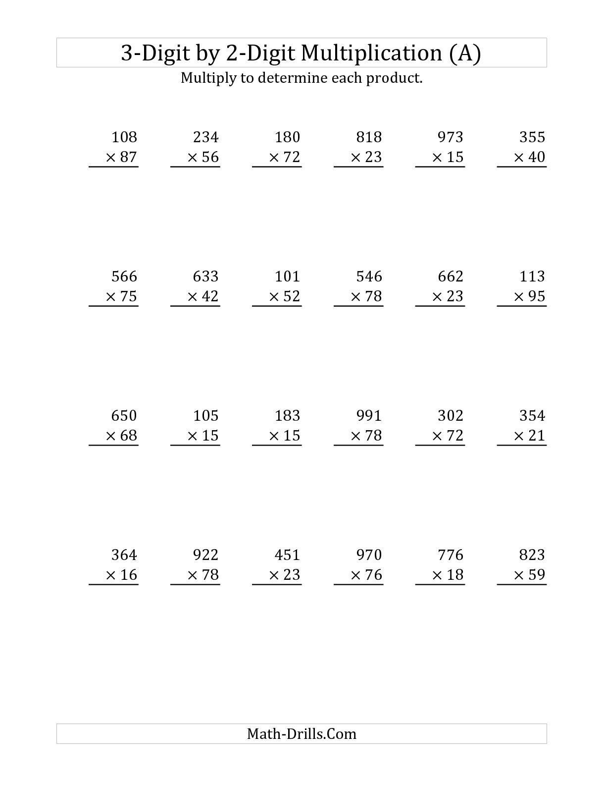 9 Best Images Of Long Multiplication Worksheets