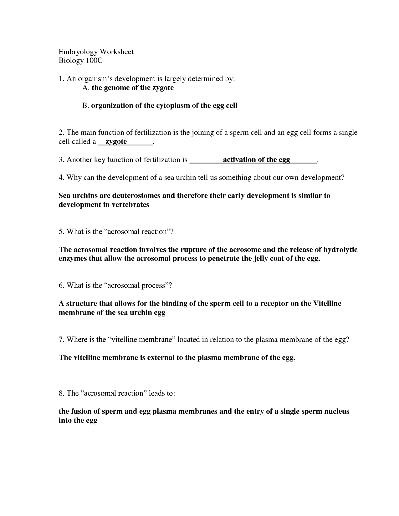 32 The Hidden Life Of The Cell Worksheet Answers