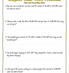 Elapsed Time Worksheets 2nd Grade   Printable Worksheets and Activities for  Teachers [ 1650 x 1275 Pixel ]