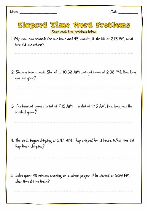 small resolution of Elapsed Time Worksheets 2nd Grade   Printable Worksheets and Activities for  Teachers