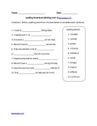 14 Best Images of 7th Grade Spelling Worksheets - 7th ...