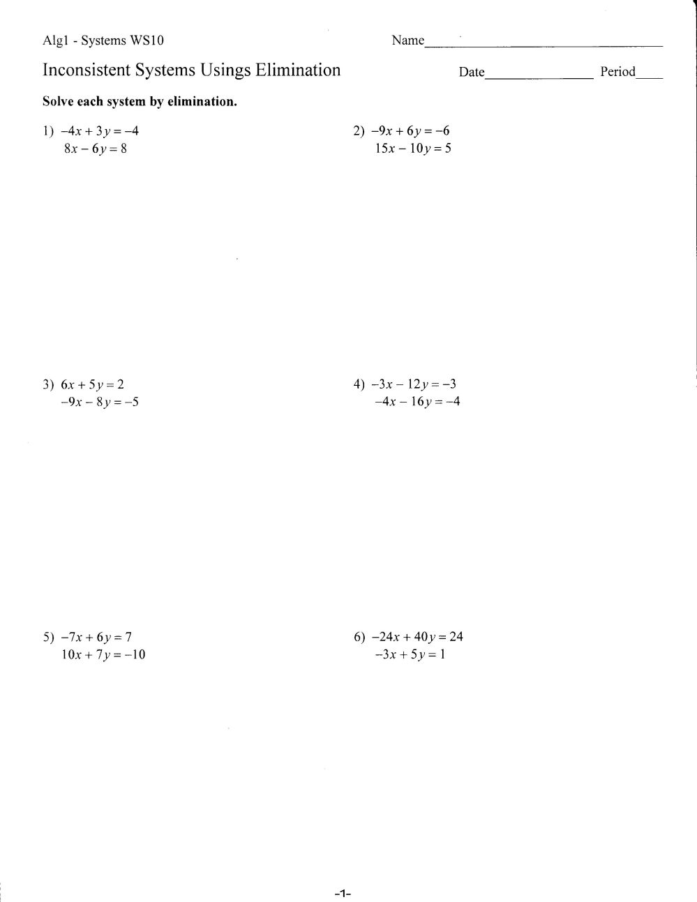 medium resolution of Algebra 1 9th Grade Finals Worksheet   Printable Worksheets and Activities  for Teachers