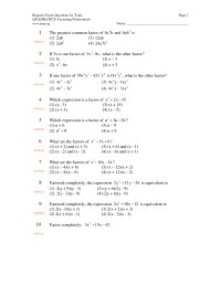15 Best Images of Algebra Polynomials Worksheets