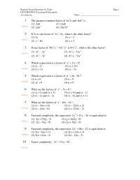15 Best Images of Algebra Polynomials Worksheets - Algebra ...