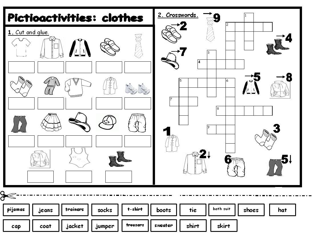 12 Best Images Of Clothing Label Worksheets