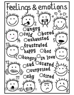 11 Best Images of Emotions And Feelings Worksheets