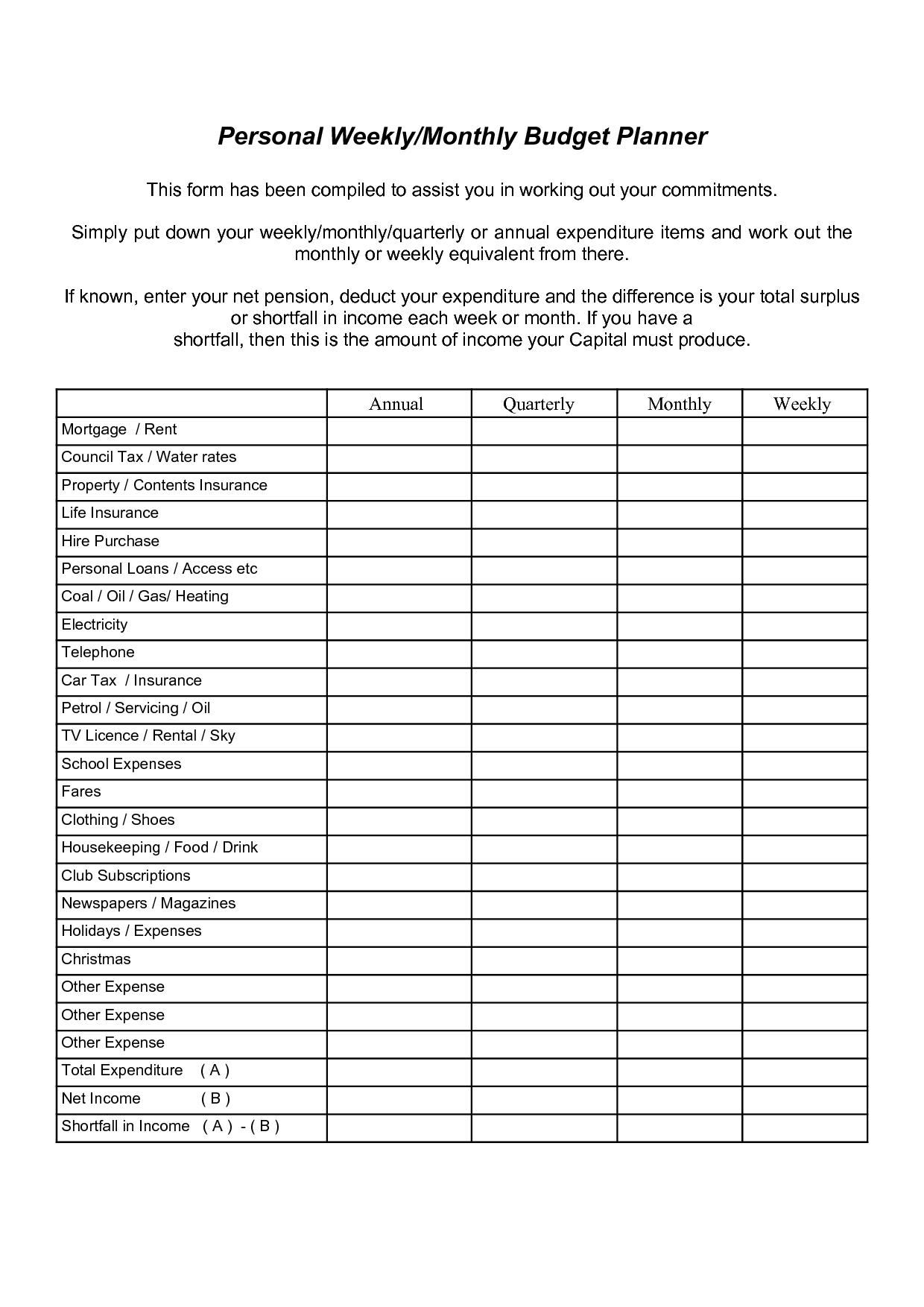 printable home organizer