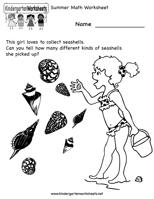 Of Worksheets Summer Season - Coloring Pages Printable Free