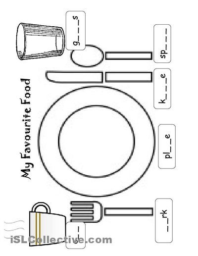 9 Best Images of Favorite Food Worksheets For Kids