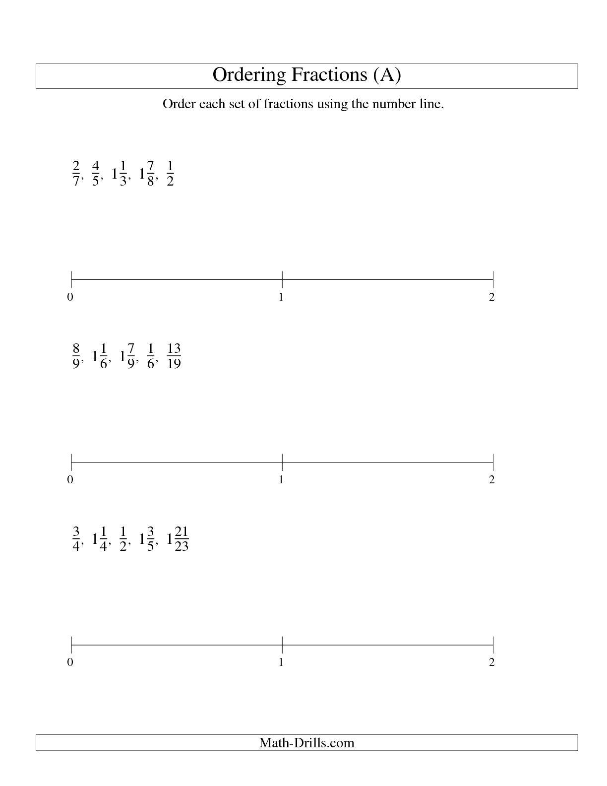 12 Best Images Of Number Line Worksheet