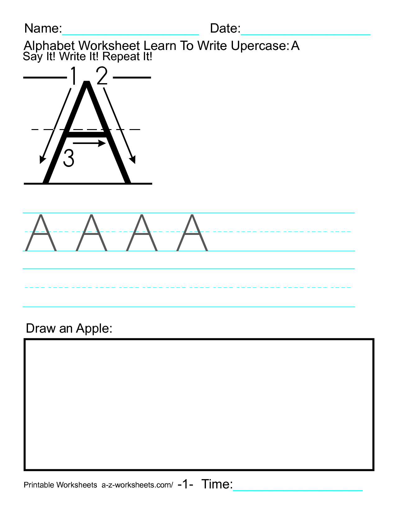 Lowercase W Worksheet