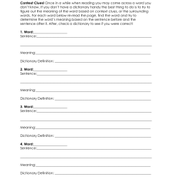 Context Clues Worksheets Free Printable   Printable Worksheets and  Activities for Teachers [ 1650 x 1275 Pixel ]