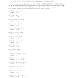 Polynomial Synthetic Division Worksheets   Printable Worksheets and  Activities for Teachers [ 1650 x 1275 Pixel ]