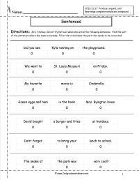 15 Best Images of 2nd Grade Sentence Correction Worksheets ...