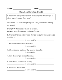 8 Best Images of Simile Metaphor Personification Worksheet ...
