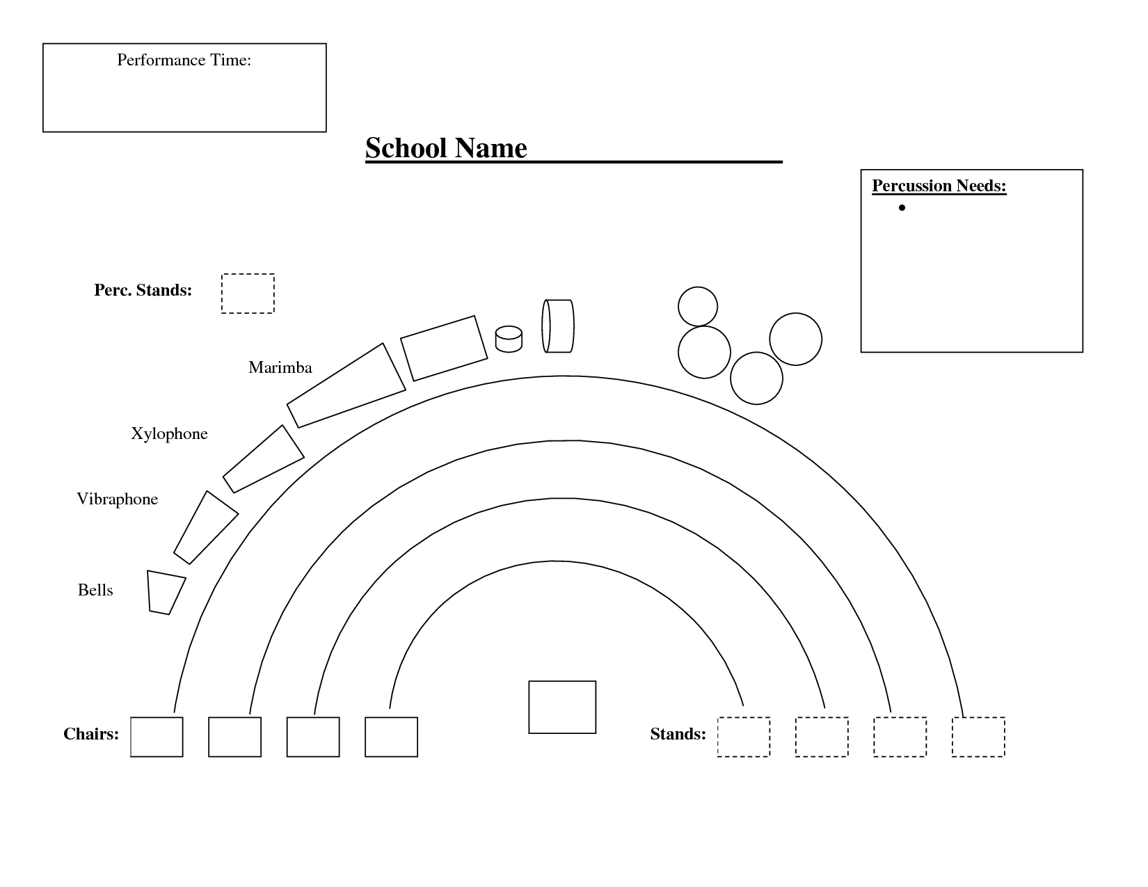 Orchestra Seating Chart Template