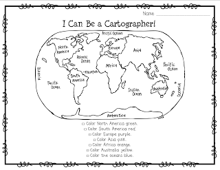 10 Best Images of You Color And Maps And Continents