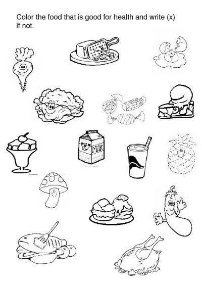 12 Best Images of Healthy Unhealthy Food Worksheet