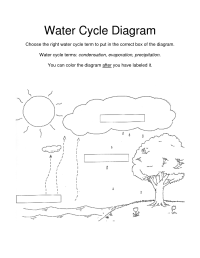 9 Best Images of Water Cycle Diagram Blank Worksheet ...
