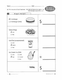 17 Best Images of Fast Food Restaurant Worksheet - Fast ...
