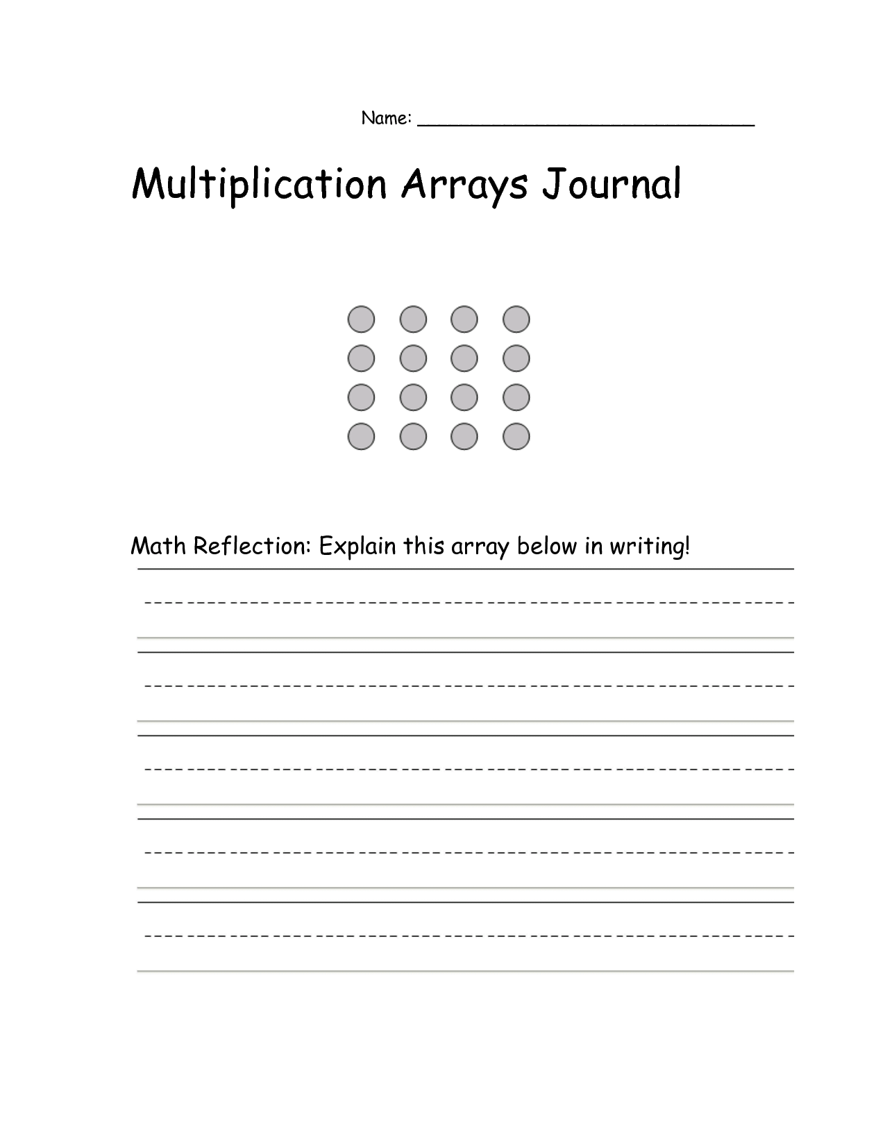 12 Best Images Of Array Worksheets 4th Grade