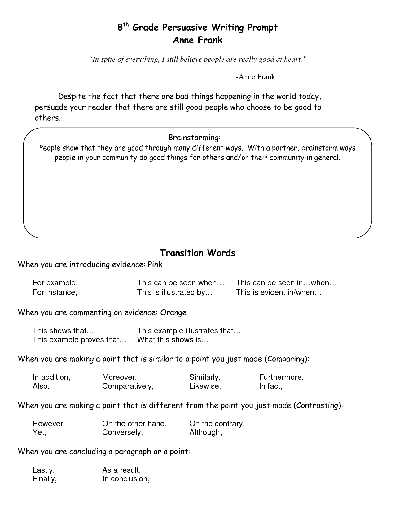 16 Best Images Of 8th Grade Vocabulary Worksheets