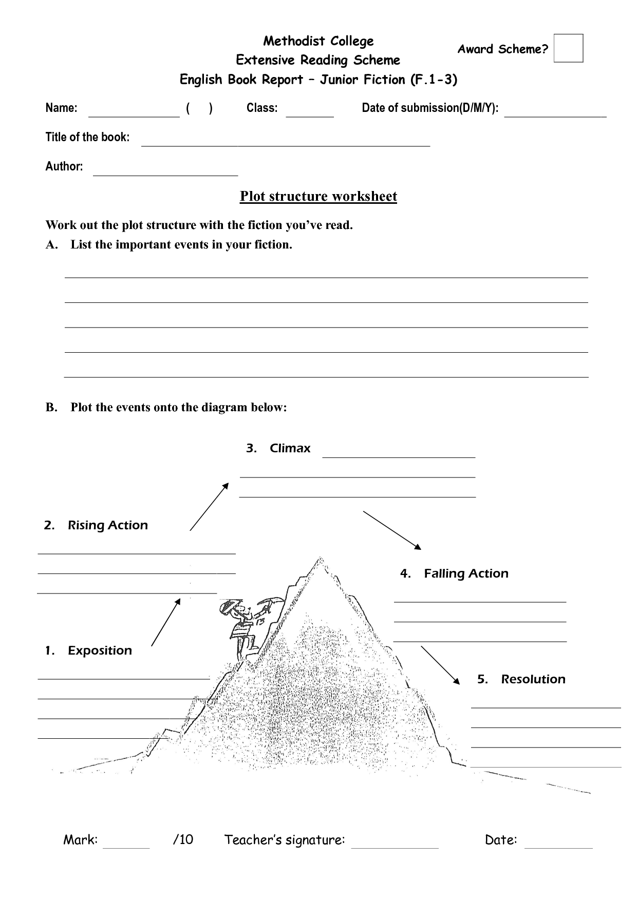 15 Best Images Of Story Structure Worksheet