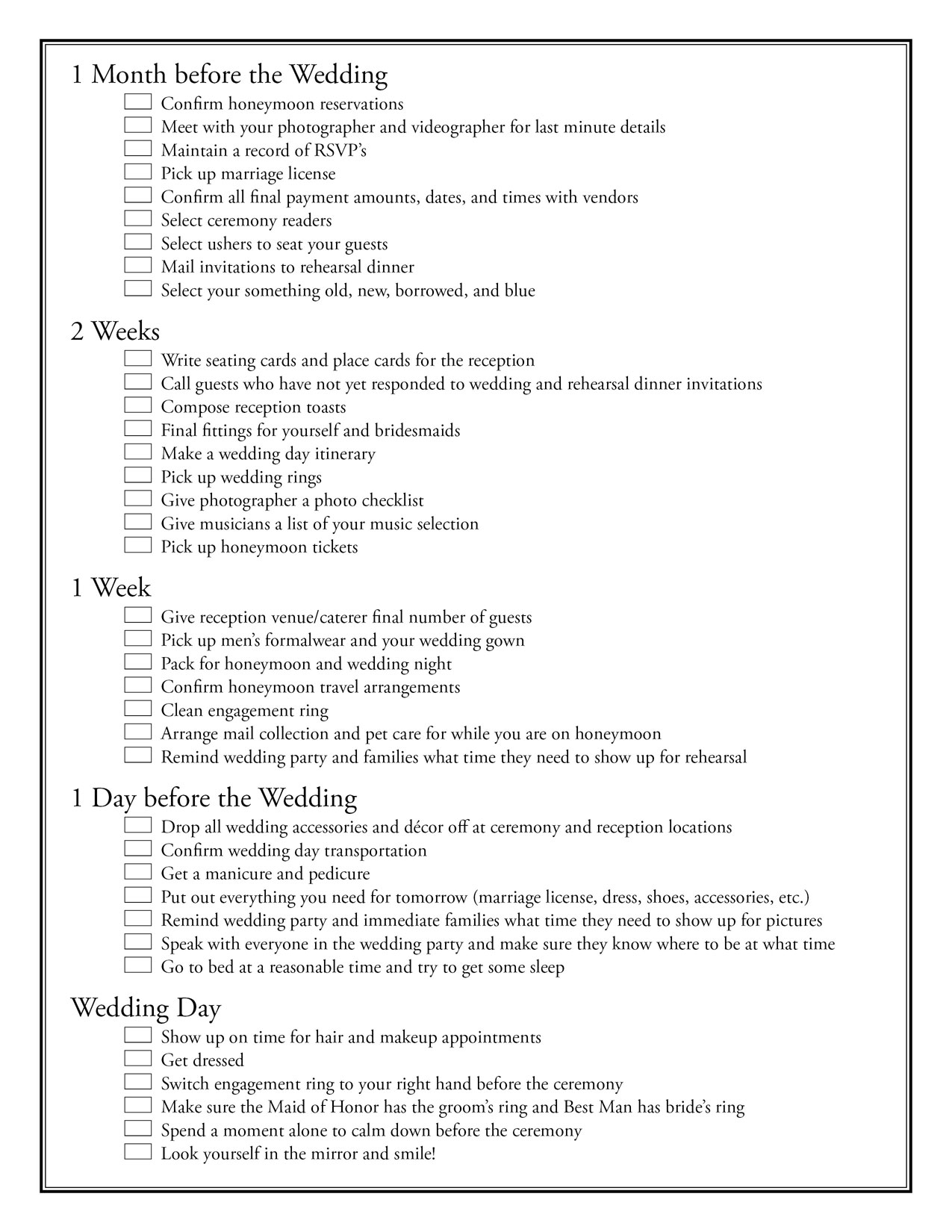 14 Best Images Of Wedding Party Worksheet