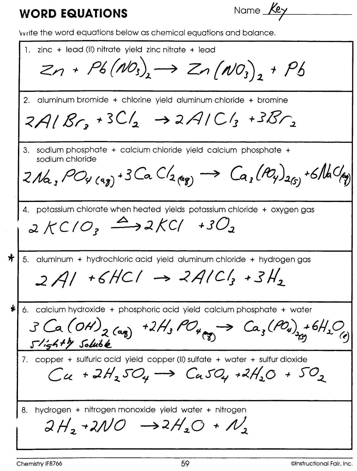 Two Step Equations In Words Worksheet Answer Key