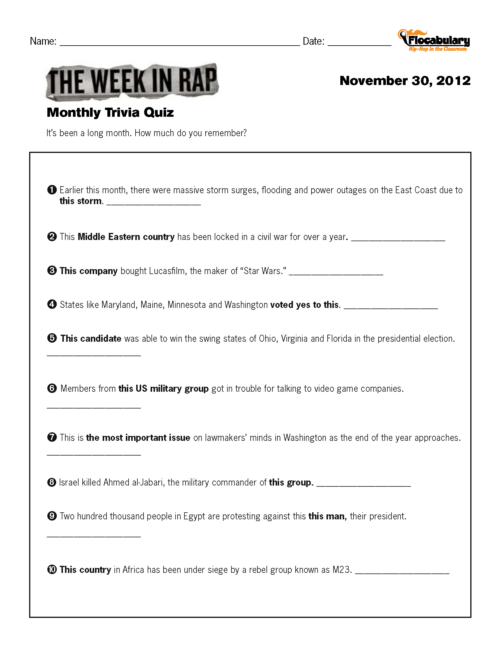 Power to the states worksheet answer key