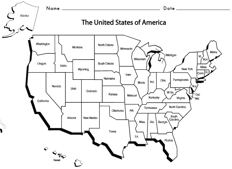 6 Best Images of State Names And Abbreviations Worksheet