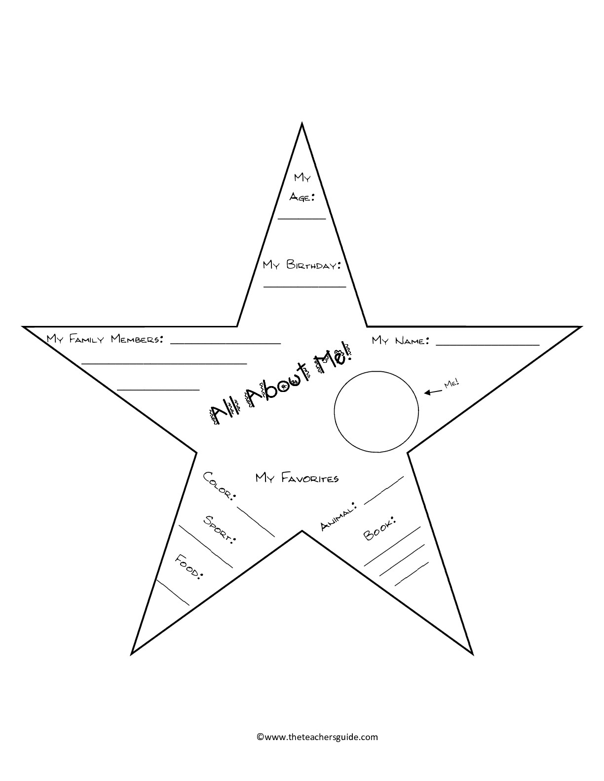 14 Best Images Of Star Printable Kindergarten Worksheets