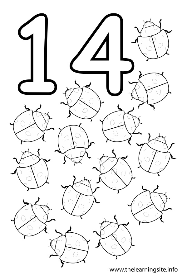 16 Best Images of Number 14 Worksheets For Preschool
