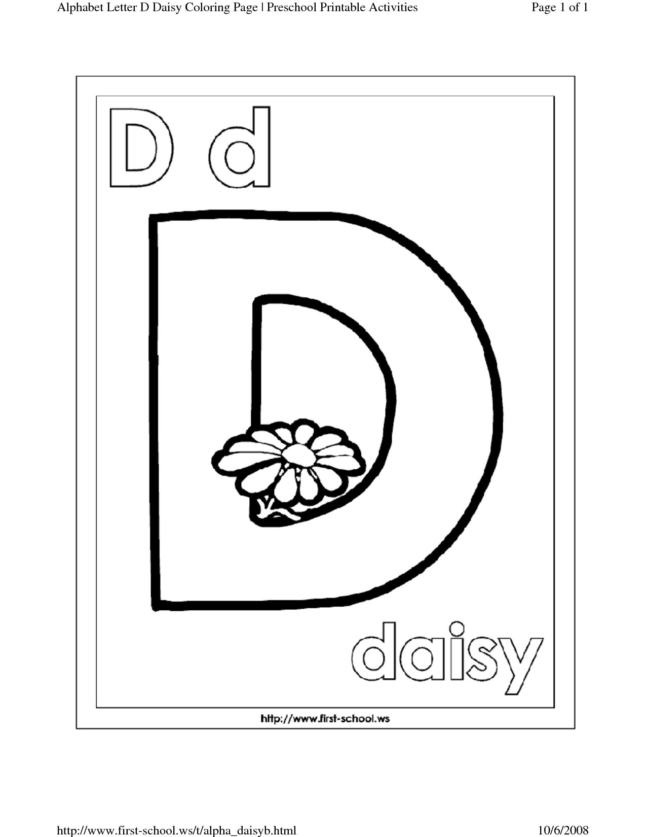 12 Best Images Of Letter D Worksheets Preschool