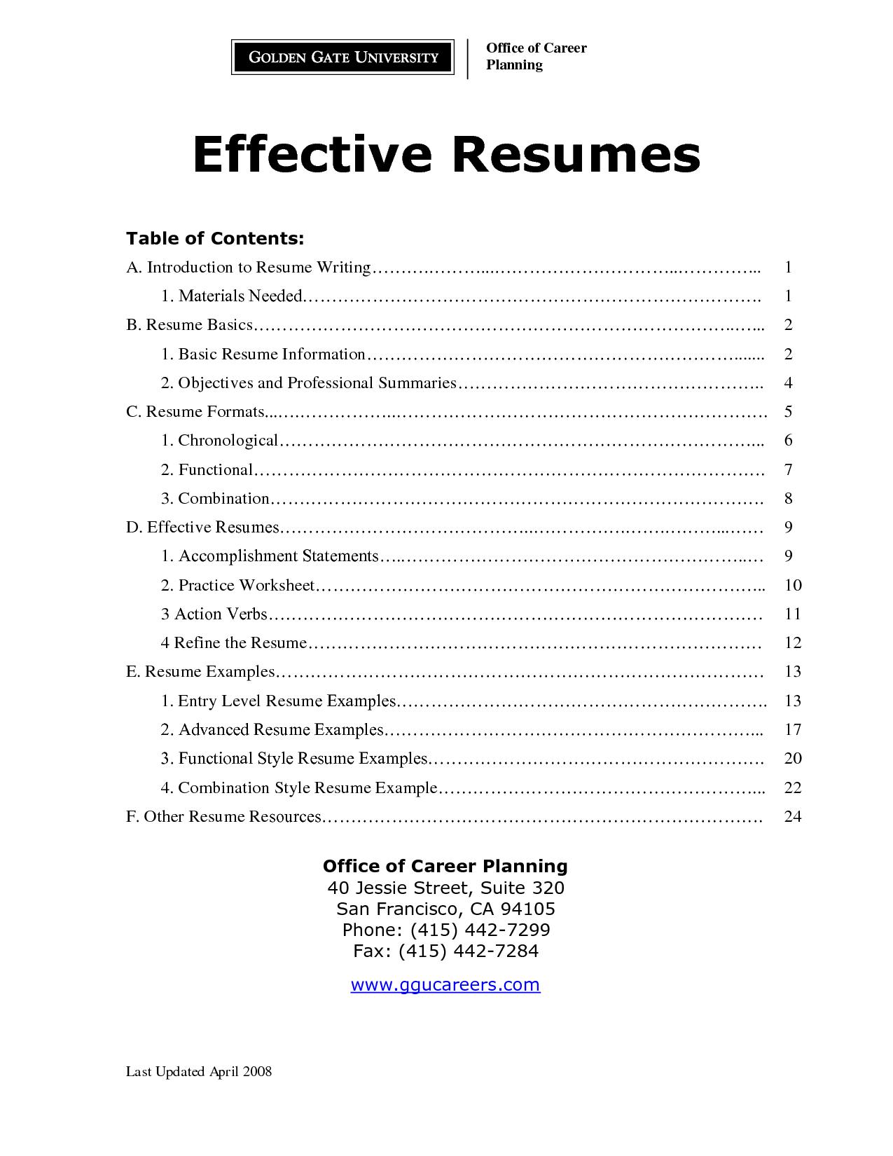 11 Best Images Of Combination Resume Worksheet