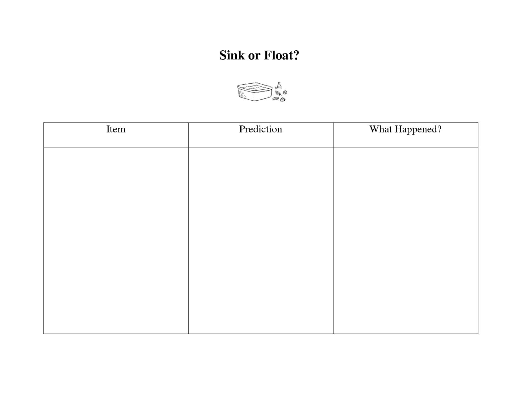 15 Best Images Of Worksheets Sink Or Float Science
