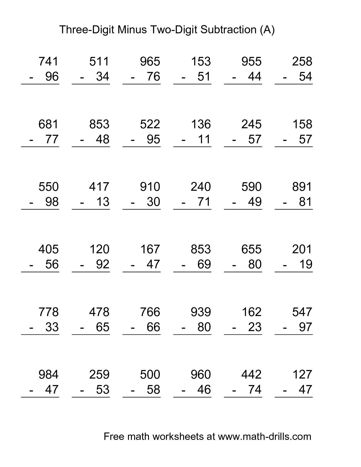 14 Best Images Of Triple Digit Subtraction Worksheets