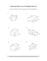 10 Best Images of Surface Area Volume Worksheet